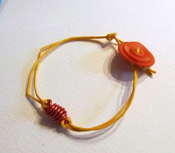 Baúl de tesoros: Pulsera de alambre y cuerda
