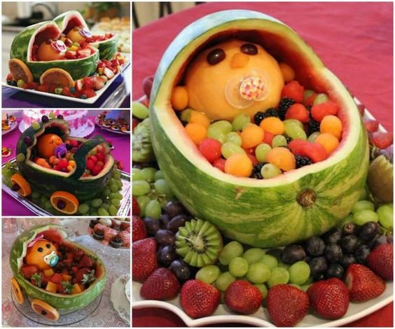 watermelon fruit baby carriage