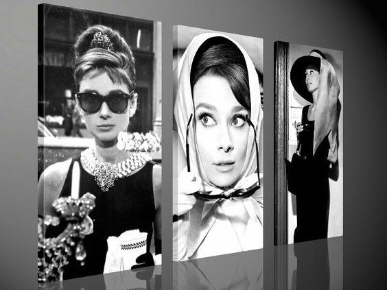 Audrey Hepburn 130 x 80 cm - 3-luik schilderijen - Alles voor uw huis inrichting - http://www.uwhuisinrichting.nl/webshop/canvas-schilderijen/3-luik-schilderijen/detail/708/audrey-hepburn-130-x-80-cm.html