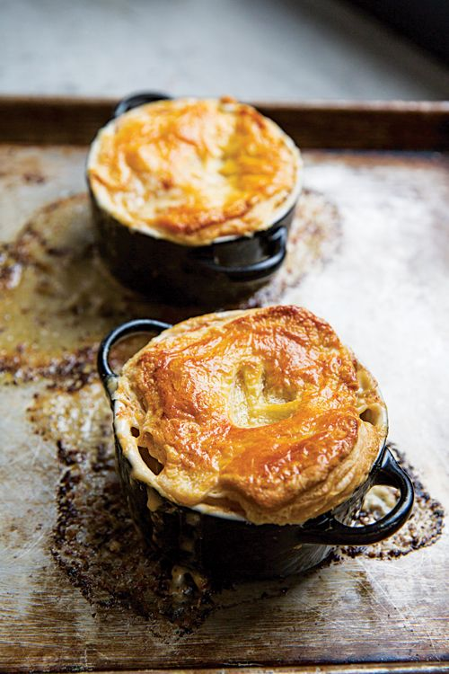 Brandy adds a luxurious note to these creamy lobster pot pies.