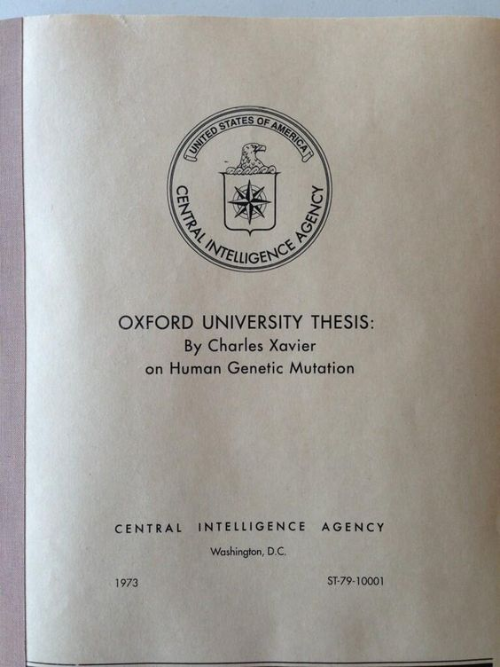 Oxford University Thesis on Human Genetic Mutation by Charles Xavier.
