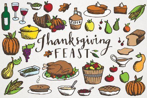 26+ Thanksgiving feast clipart free ideas