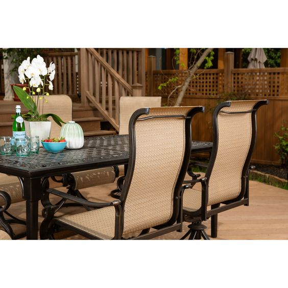 16++ Hanover naples 9 piece outdoor dining set Various Types