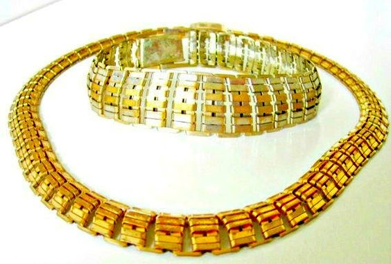 Vintage  Necklace and bracelet set  Egyptian by nanascottagehouse, $32.00