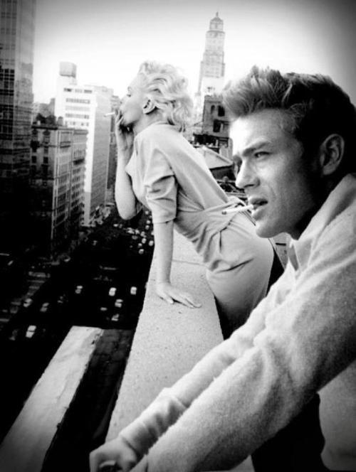 James Dean and Marilyn Monroe.