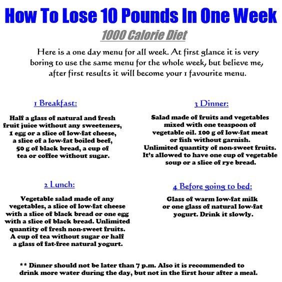 how to lose ten pounds in two weeks diet plan