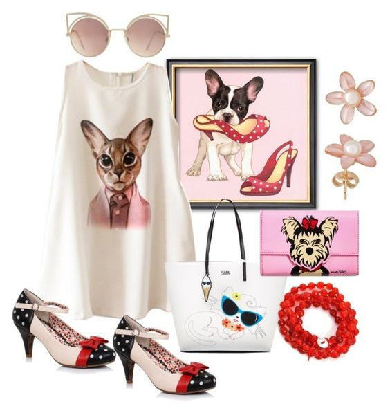 """""""Cats & Dogs 2"""" by pampire ❤ liked on Polyvore featuring Chicnova Fashion, Karl Lagerfeld, Marc Tetro and MANGO"""