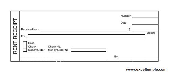Get Bill Receipt Template in Word Format WordTemplateInn Excel - monthly rent receipt