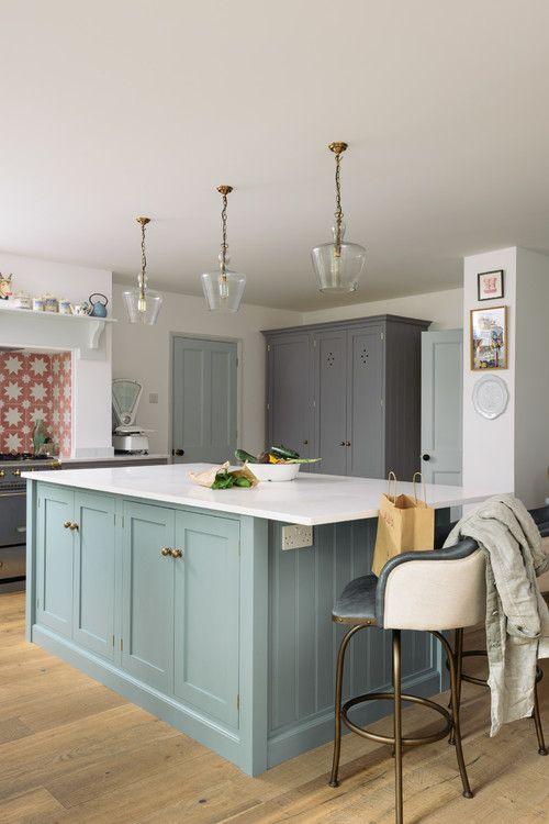 24++ Blue shaker style kitchen cabinets diy