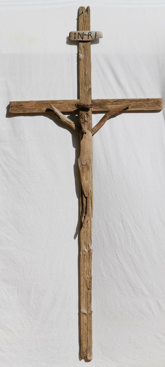Driftwood Crucifix by Halsdriftwood on Etsy https://www.etsy.com/listing/156217793/driftwood-crucifix