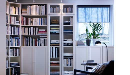 S rie de biblioth ques billy hop on range pinterest for Bibliotheque meuble ikea