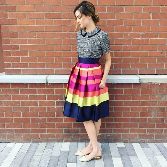 Marigot Pleated Skirt #Anthropologie #MyAnthroPhoto