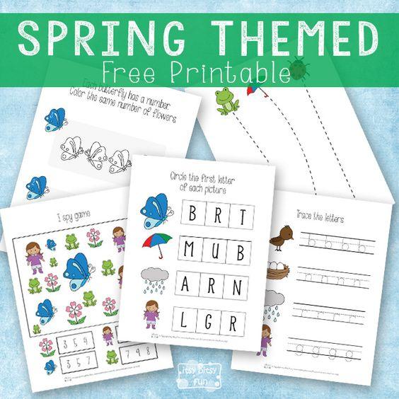 FREE Spring Themed Printables