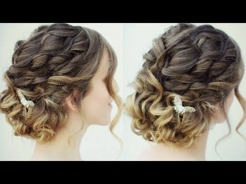 Curly Messy Updo Prom Hairstyles Braidsandstyles12 Youtube Hair Styles Braided Hairstyles Updo Box Braids Hairstyles