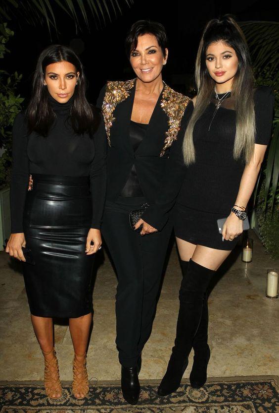 Kim Kardashian, Kris and Kylie Jenner