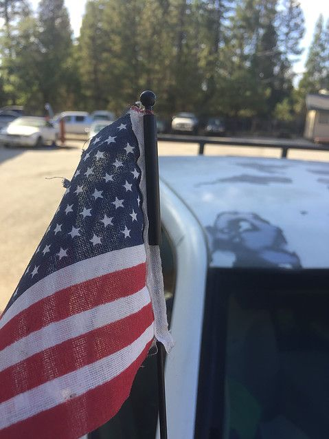 American Flags Handmade for Car AntennaPlantsWindows by ClassyWork