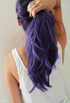 Deep purple! 10 prachtige donkere paarse lange kapsels. - Kapsels voor haar