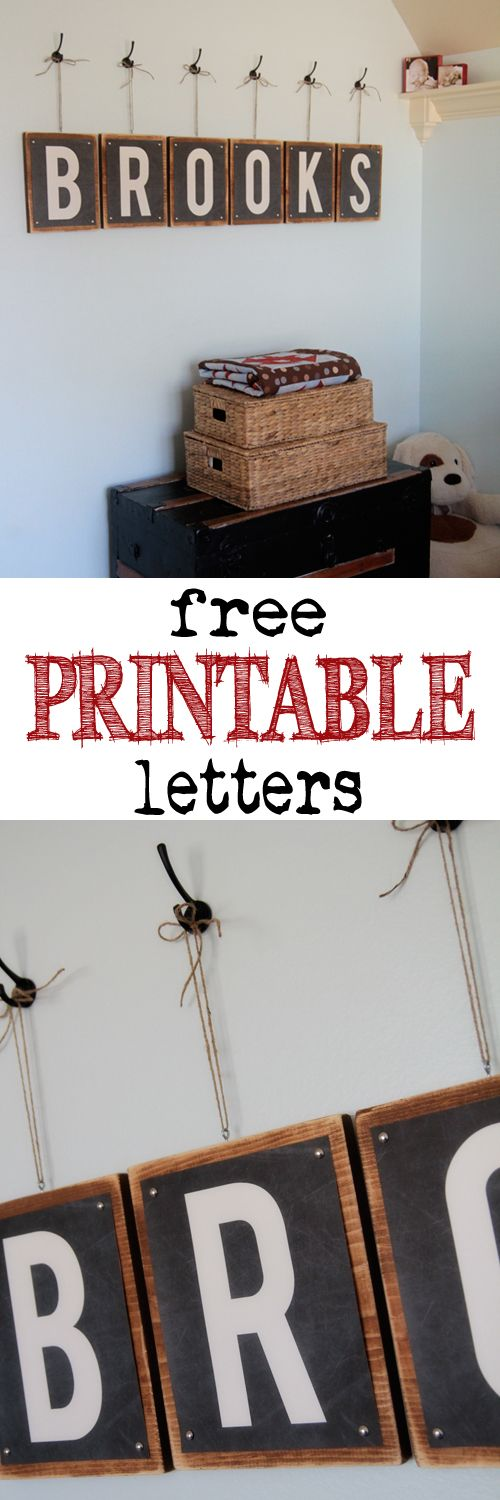 Free Printable Letters at Shanty-2-Chic.com - Print 8x10 letters for any room for FREE! LOVE these!