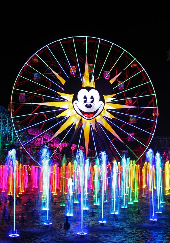World of Color...our favorite at Disneyland!  We said we would pay the admission just to watch this!!!