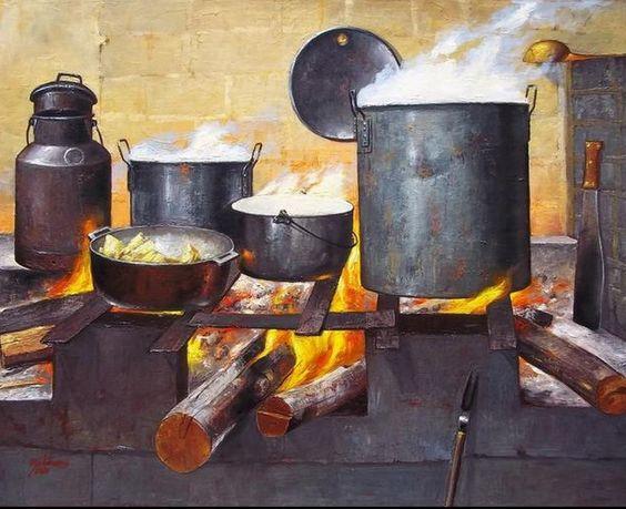 Pinturas al oleo de cocinas antiguas buscar con google - Pintura para cocinas ...