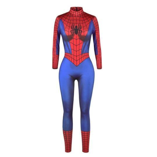 Adult Halloween Spider Super Hero Costume Women fancy dress Cosplay bodysuit