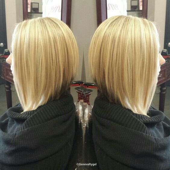Incredible Blonde Highlights Bobs And Long Graduated Bob On Pinterest Hairstyles For Women Draintrainus