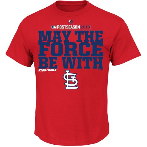 St. Louis Cardinals 2015 Postseason Star Wars May The Force Be With T-Shirt - MLB.com Shop