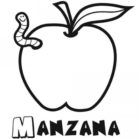 Dibujo Manzana Para Colorear Ima Genes Gratis De Frutas Con