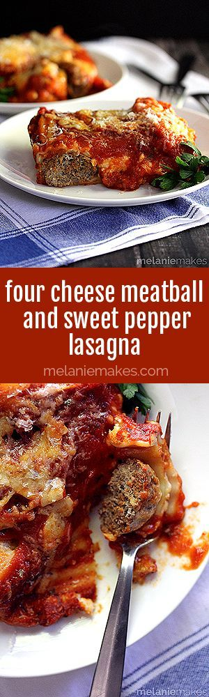 Four cheese meatball and sweet pepper lasagna recipe for Different kinds of lasagna recipes