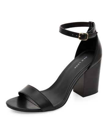 Black Comfort Pointed Sling Back Heels | Shops Block heels and Shoes