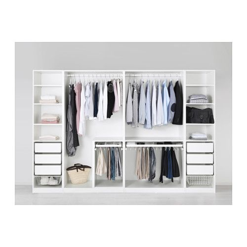 Organisation de dressing ikea penderie pax and placard on pinterest - Penderie basse porte coulissante ...