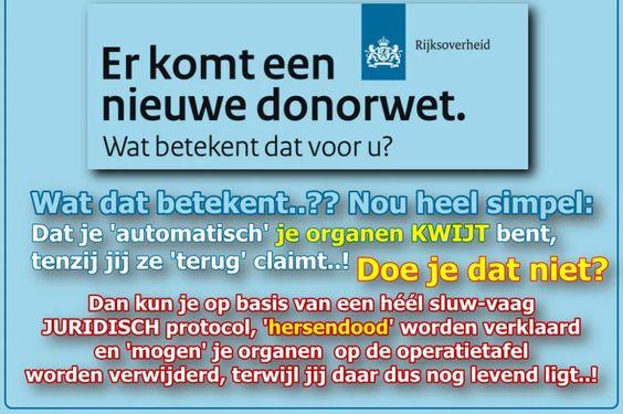 Orgaandonatie Ja/Nee? Gewoon jezelf EERLIJK informeren..!! – WantToKnow.nl