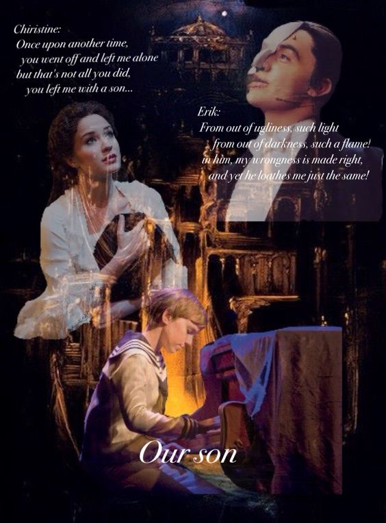 """The song """"The phantom confronts Christine"""" of the Love Never Dies Gustave the little angel ❤️"""