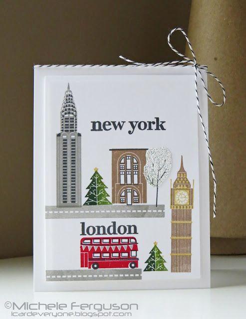 Handmade Card New York London Travel Card By I Card Everyone Carddesign Craft Cardinspiration Cardidea Cards Handmade Simple Cards Birthday Cards