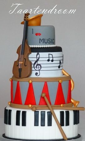Musical Instruments Cake please. I love this with ...
