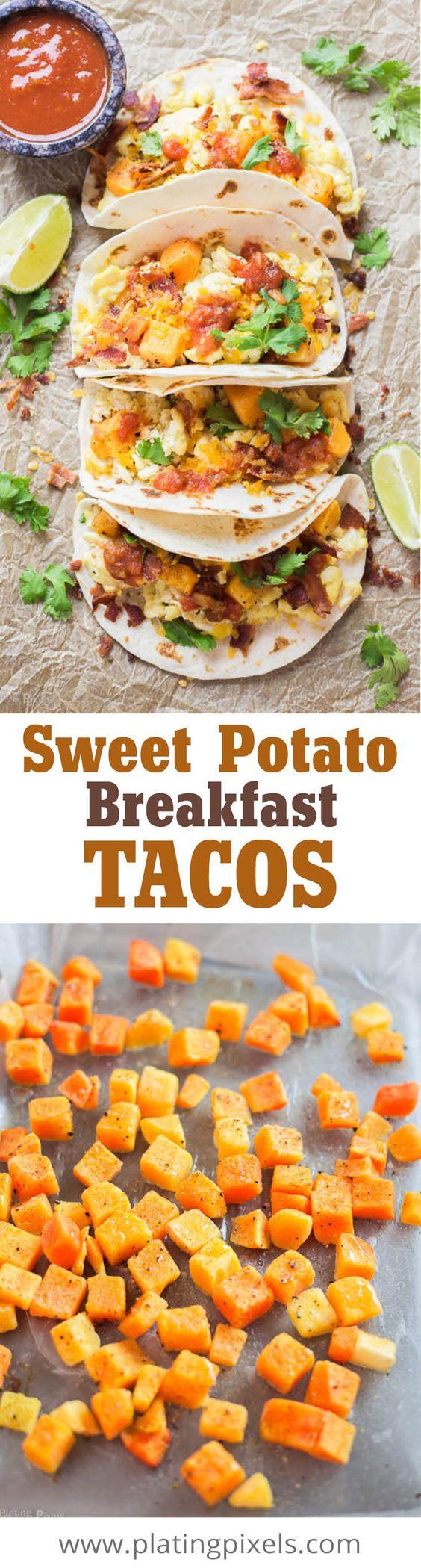 Breakfast tacos, Sweet potato breakfast and Tacos on Pinterest