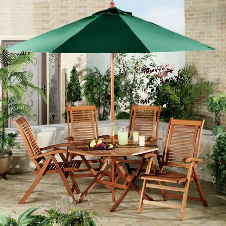 Lanai Shorea Wood Outdoor Dining Furniture