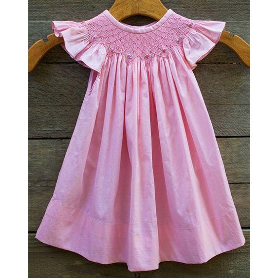 Smocked Pink Dress
