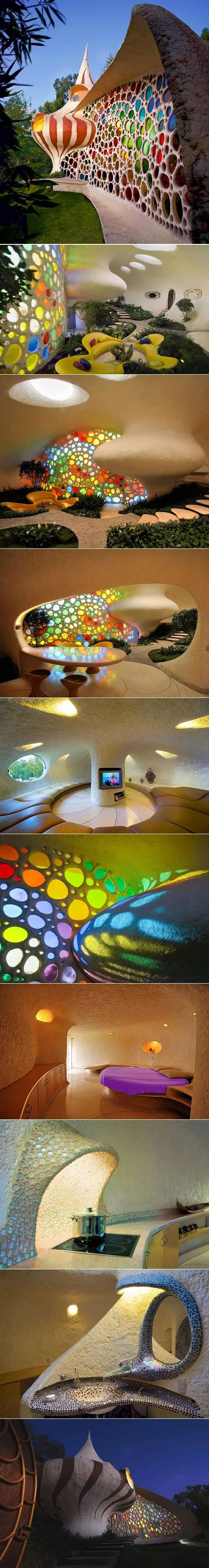 Amazing Nautilus_House shell shaped house in Mexico City