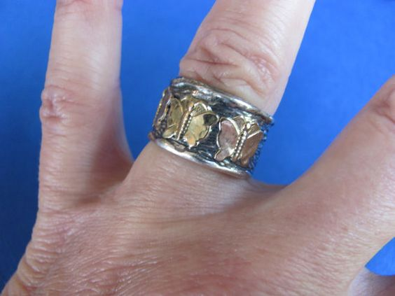SALE Vintage 14k solid gold and sterling by BonniesGreatFinds
