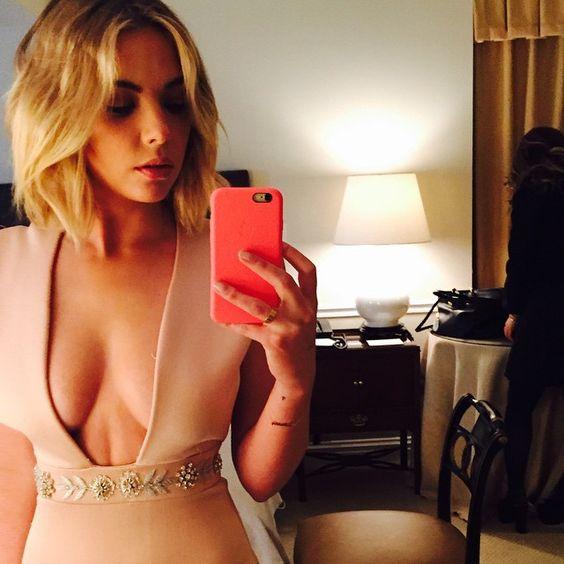 This dress is gorgeous on Ashley Benson. | Pretty Little Liars