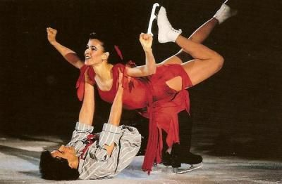 Paul and Isabelle Duchesnay - Pairs skaters who were World Champions in 1991 and Silver Medal winners at the 1992 Olympic Games in Albertville, France. Were among my favorites! Gave him flowers at 1987 World Figure Skating Championships.