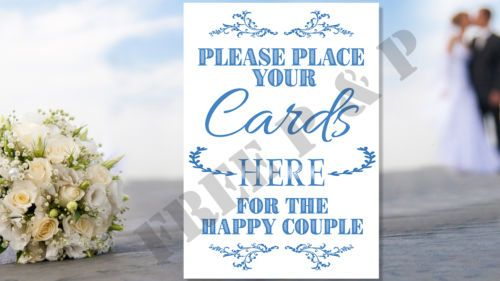 -Here-Sign-for-Wedding-Gift-Table-Letter-Box-A4-Any-color Wedding ...