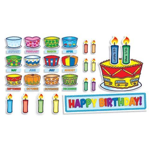 Birthday Cakes Mini Bulletin Board - Scholar's Choice Teachers Store