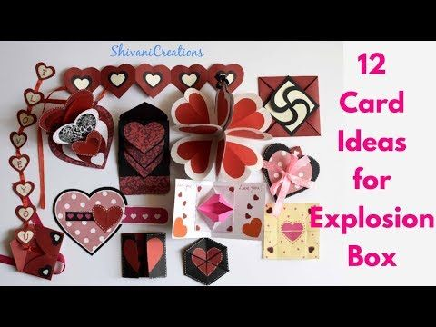 12 Card Ideas For Explosion Box Diy Valentine S Day Explosion Box