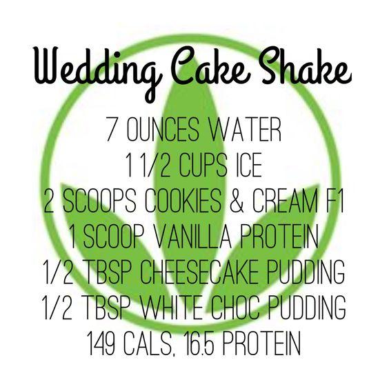 Wedding Cake Shake Recipe Herbalife