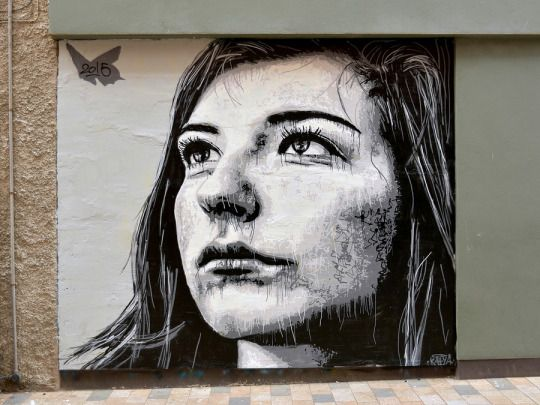 "NILS WESTERGARD  .. ""Kaiya"" .. for Sand, Sea & Spray - Blackpool's Urban Art Festival  [Blackpool, UK  2015] (close up)"
