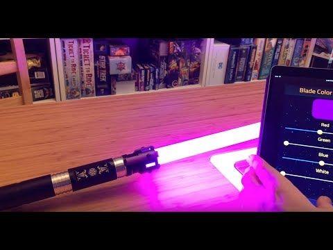 Lightsaber Review Electrum Sabercraft Aegis Unboxing And Review Youtube Lightsaber Star Wars Light Saber Lightsaber Design