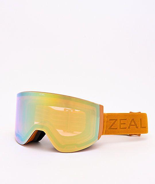 Zeal Hatchet Desert Gold Alchemy Mirror Snowboard Goggles Zumiez Snowboard Goggles Brown Low Lights Red Brown Hair
