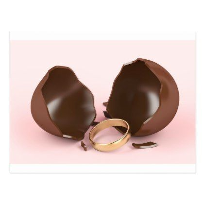Proposal ring in a chocolate egg